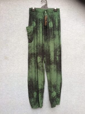 PT-21 Harem Pants – Batik – Bottle Green