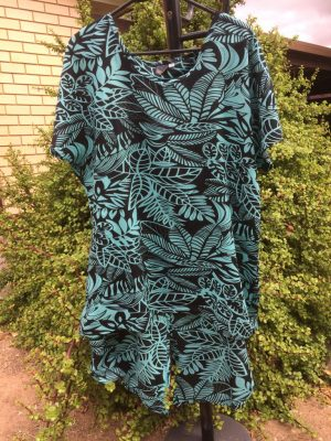 SH-101 Dress Split Back – Green