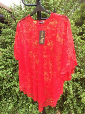 SH-83 Popular 1 Size Lace Top – Red