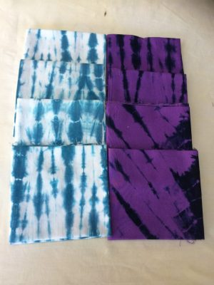 Fat Quarters –1– Turquoise-White or Deep Purple