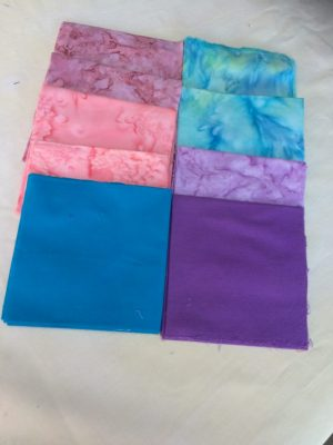 Fat Quarters –4– Various Blue, Lilac, Purple and Pink