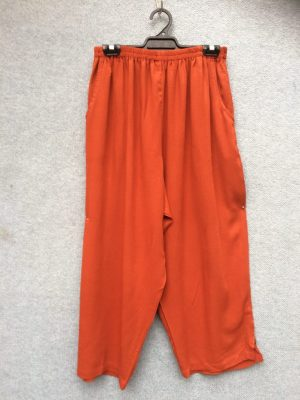 PT-29 Pants- Crinkle Rayon, 2 Pockets – Rust