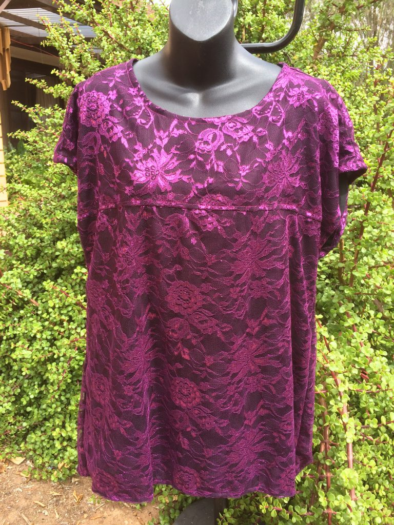 SH-104 Lace Top – Fully Lined – Purple