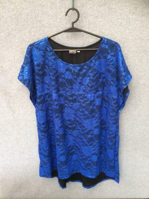 SH-104 Lace Top – Fully Lined – Blue
