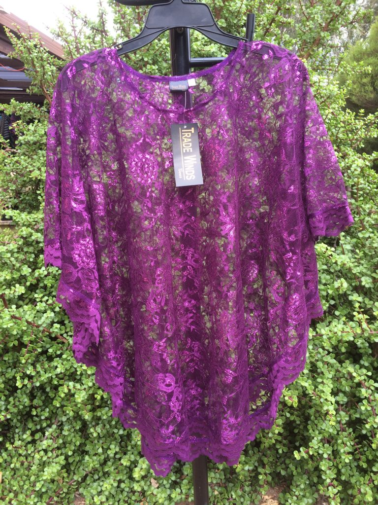 SH-83 Popular 1 Size Lace Top - Purple