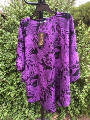 SH-83 Popular 1 Size Top – Bright Batik Colours – Purple